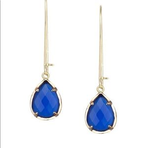 Kendra Scott Dee Wire Cobalt Blue Drop Earrings